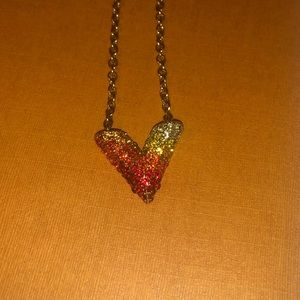 Louis Vuitton Essential V crystal necklace